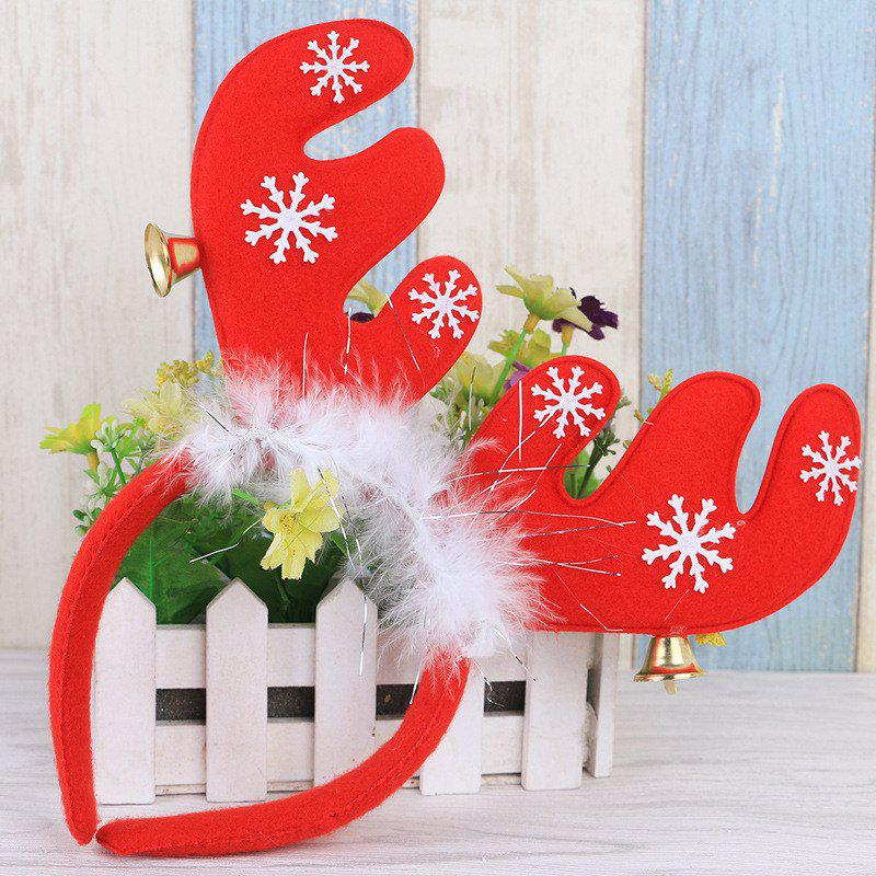 Cute Christmas Bells Headband Antlers Head Hoop Holiday DecorationHOME<br><br>Color: RED; For: All; Usage: Christmas;
