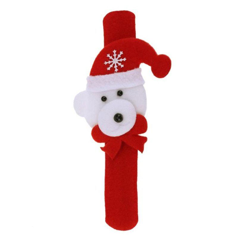 2pcs Creative Christmas Party Children Decorative Bracelet Pats CircleHOME<br><br>Size: BEAR STYLE; Color: RED WITH WHITE;