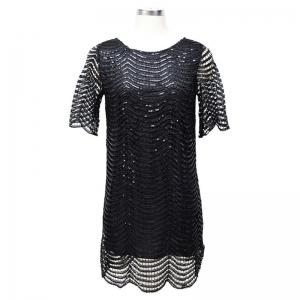 Sexy Women's Loose Round Neck Collar Dress -
