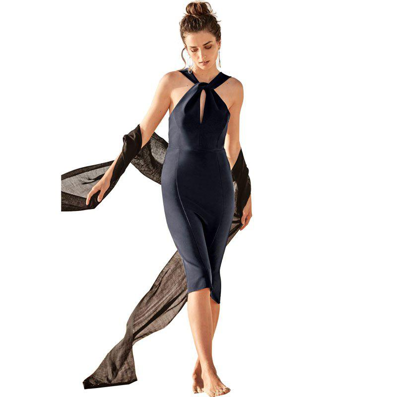 Outfit Women's Sheath Solid Color Sleeveless Sexy Dress
