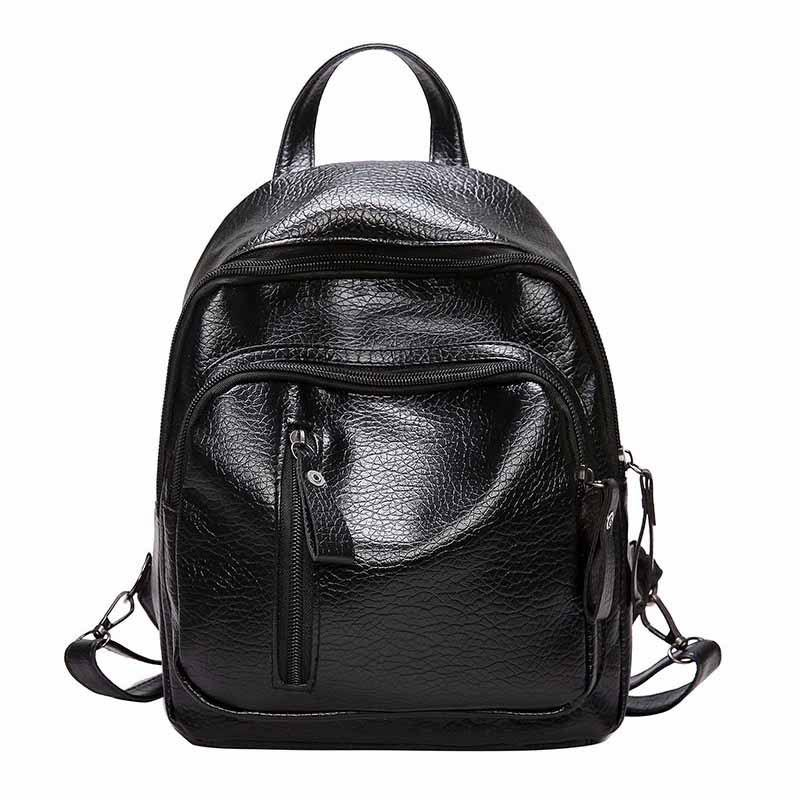 Fashion Trend Wild Multi-purpose Travel PackageSHOES &amp; BAGS<br><br>Size: VERTICAL; Color: BLACK; Type: Backpack; For: Casual,Other,Sports,Traveling,Work; Gender: For Women; Style: Cool,Cute,Fashion,Leisure,Sport; Capacity: 11 - 20L; Strap Length: 35cm;