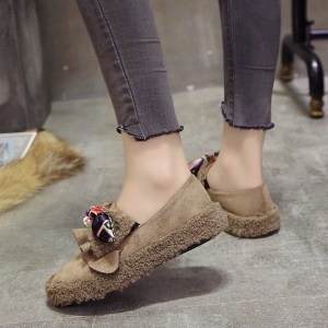 Women Autumn Winter Shoe Casual Soft Single Roman Shoes -