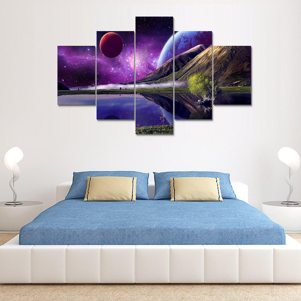 Universe Space Canvas Print Home Decoration Wall Art Picture 5PCSHOME<br><br>Color: COLORMIX; Material: Canvas; Shape: Vertical; Craft: Print; Form: Five Panels; Painting: Without Inner Frame; Subjects: Landscape; Style: Others; Suitable Space: Bedroom,Dining Room,Kids Room,Living Room,Office,Study Room / Office;