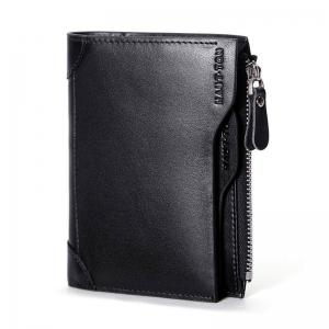HAUT TON Genuine Leather Trifold Wallets for Men Credit Card Protector -