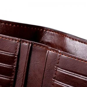 HAUTTON Genuine Leather Trifold Wallets for Men Credit Card Protector -