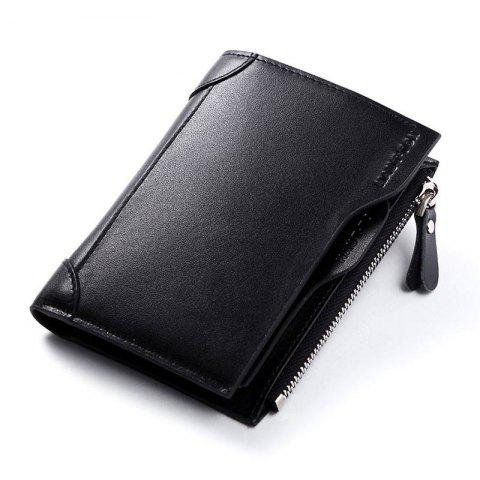Trendy HAUTTON Genuine Leather Trifold Wallets for Men Credit Card Protector