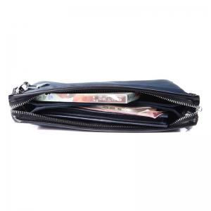 HAUT TON Men Clutch Bag Zipper Wallet Purse Checkbook Document Passpsort Phone Handbag -