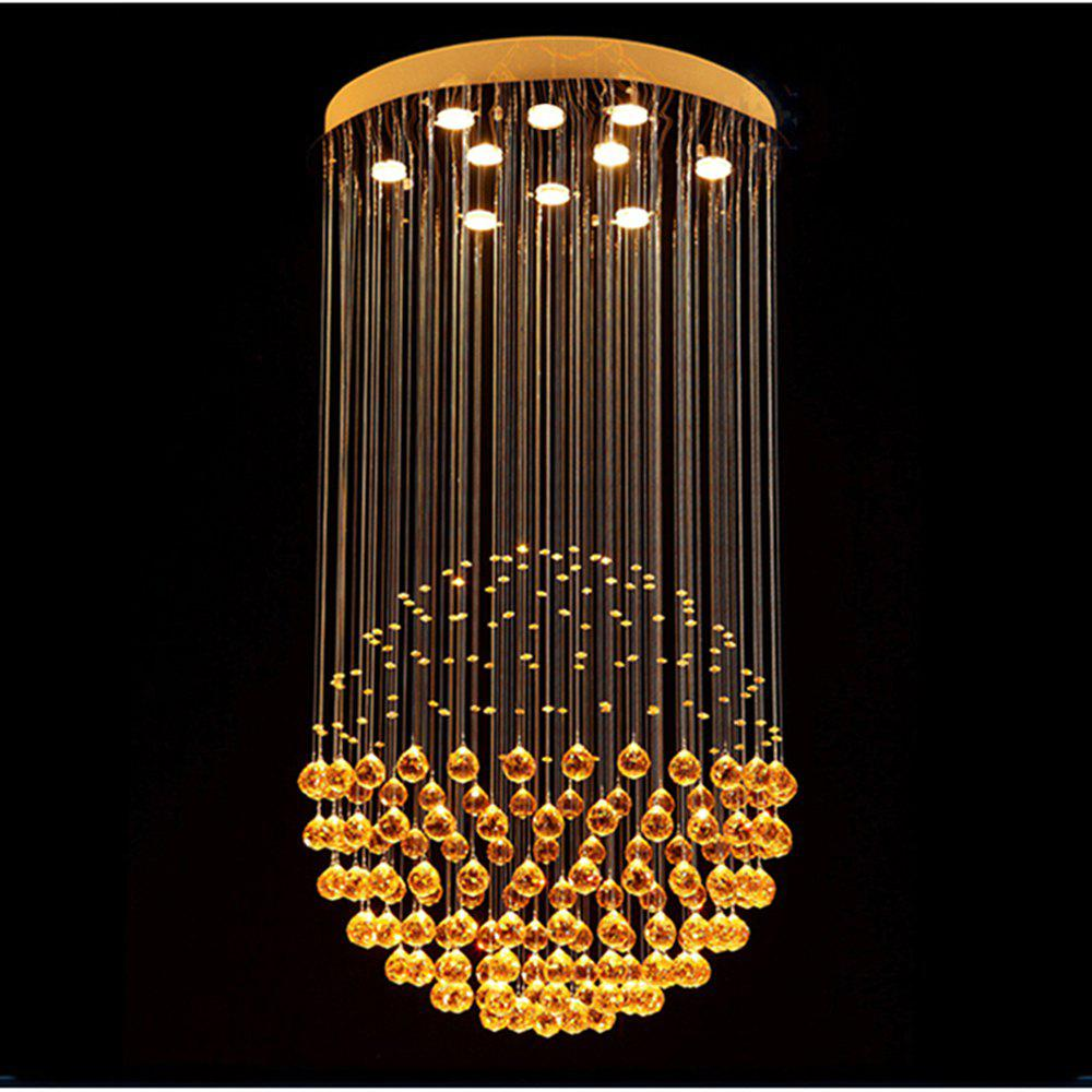 Discount modern chandeliers luxury clear crystal hanging lamp lighting fixtures for dining room hotel with d70cm