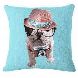 Cute Bulldog Cotton and Linen Household Pillowcase -