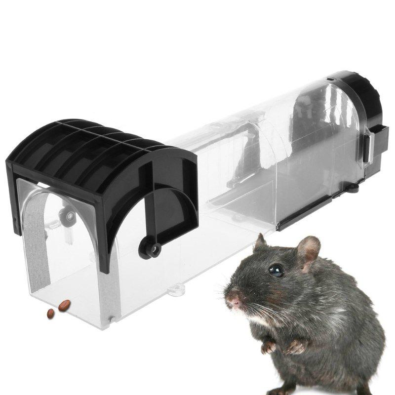 Buy Self-locking Mousetrap Plastic Catching Cage for Chipmunks Squirrels Voles