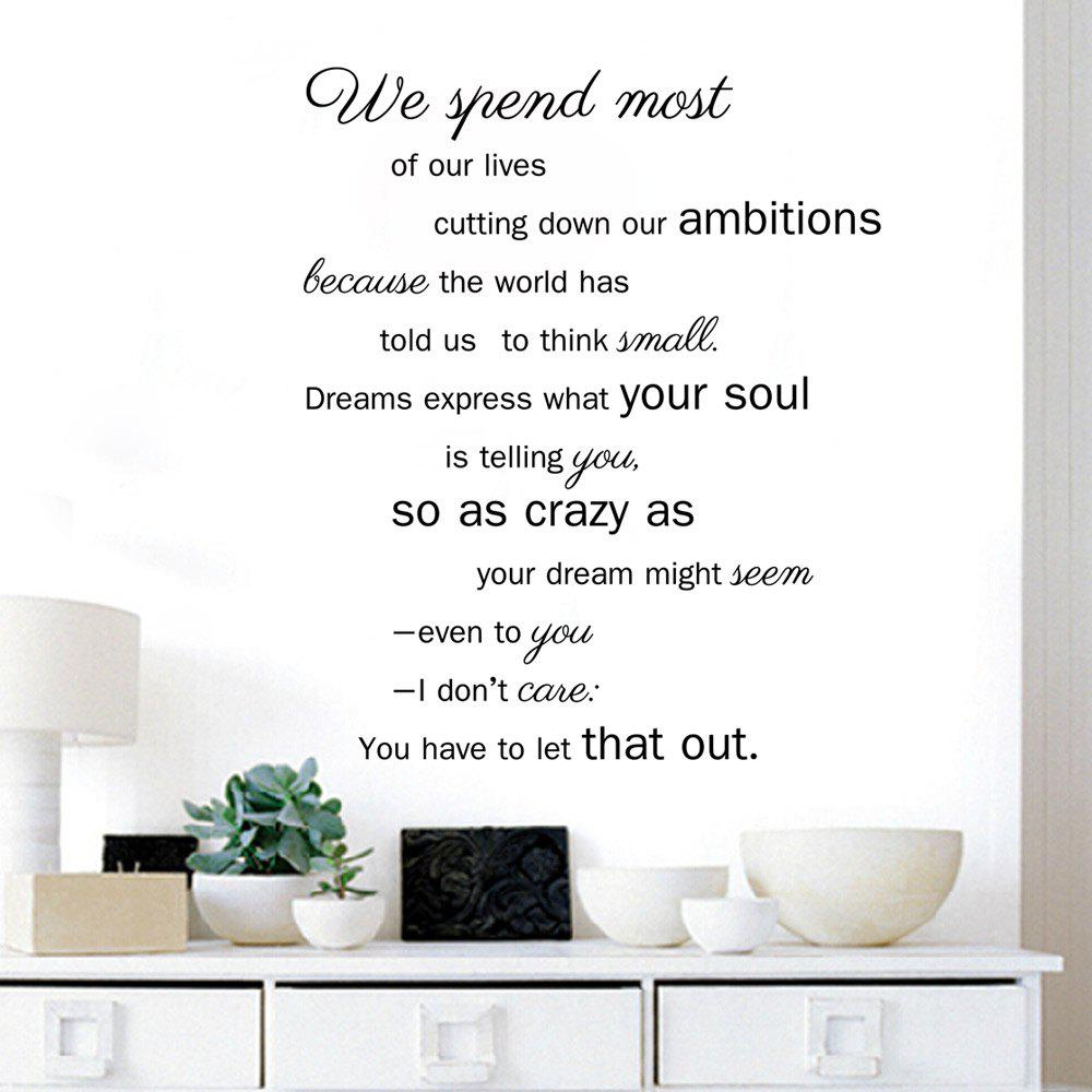 DSU Lyric Dining Room Home Decoration Quote Wall Decal