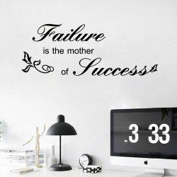 DSU Motto Lettering Word Art Wall Sticker for Home Decoration -