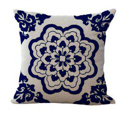 Decorative Sofa Cushion Cover Simple Chinese Style Flower Pattern Pillowcase -