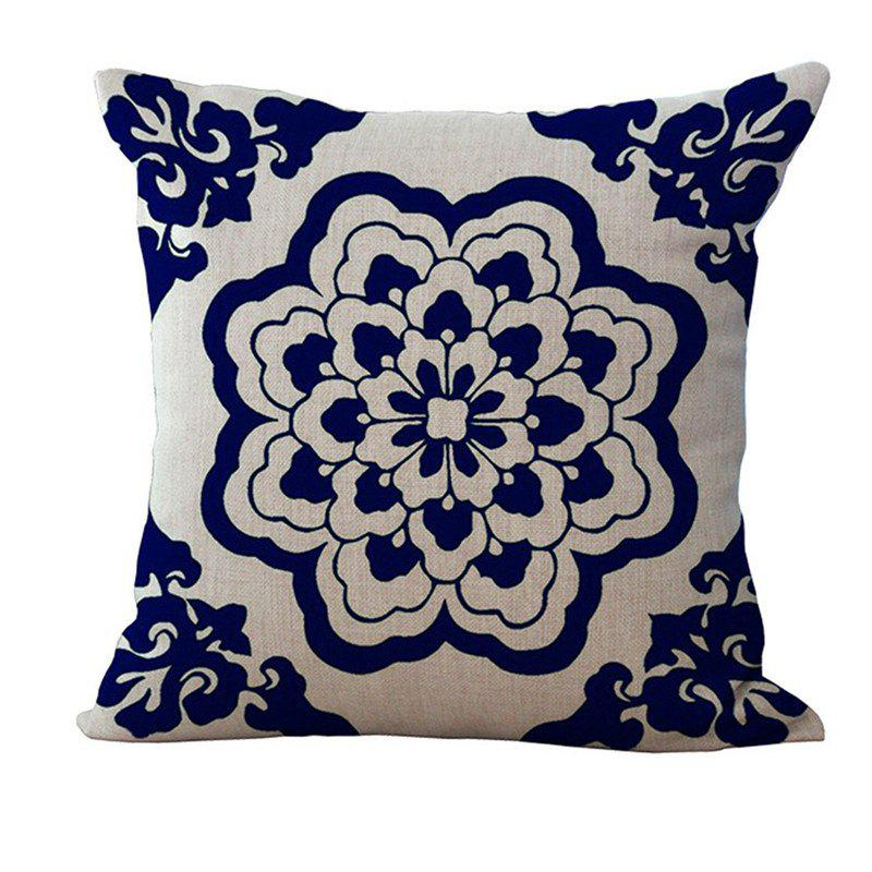 Cheap Decorative Sofa Cushion Cover Simple Chinese Style Flower Pattern  Pillowcase