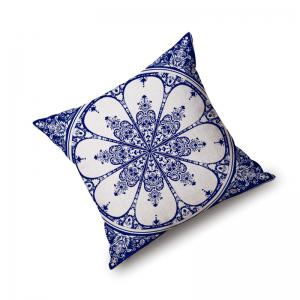 Home Sofa Cushion Cover Classic Flower Pattern Supple Pillowcase -