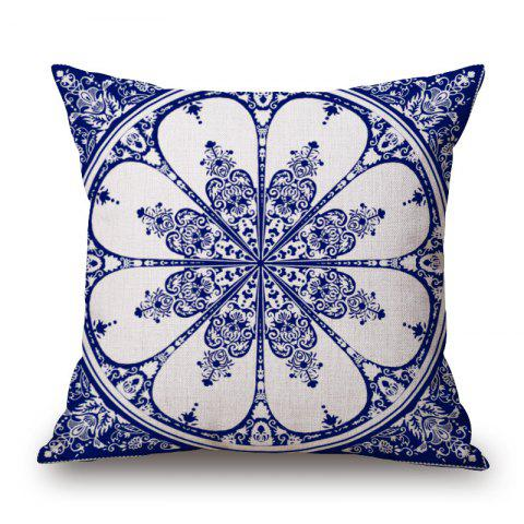 Sale Home Sofa Cushion Cover Classic Flower Pattern Supple Pillowcase
