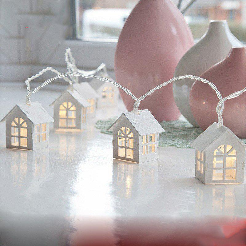 1.5M 10 Decorative String Lamp House Shaped Bedroom Night LED LightHOME<br><br>Color: WHITE; Product weight: 0.2000 kg; Package weight: 0.2200 kg; Product size (L x W x H): 150.00 x 6.50 x 5.50 cm / 59.06 x 2.56 x 2.17 inches; Package size (L x W x H): 20.00 x 10.00 x 10.00 cm / 7.87 x 3.94 x 3.94 inches; Package Contents: 1 x String Light;
