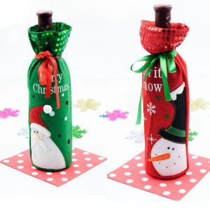 Christmas Decoration Wine Bottle Cover -