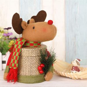 Lovely Christmas Decoration Box Santa Claus Deer Snowman Gift Candy Bottle -