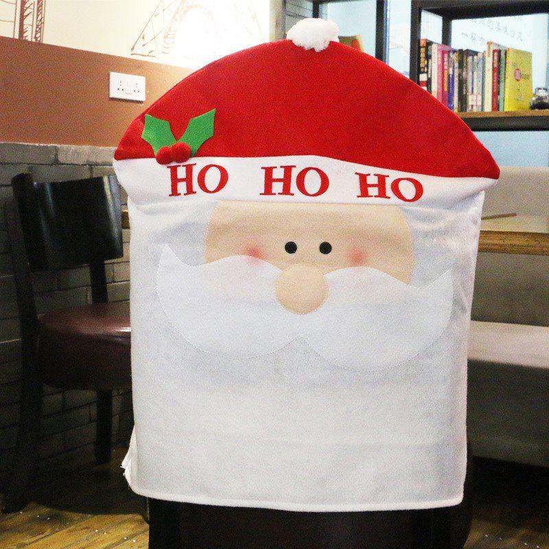 Christmas Decoration Chair Cover Hotel Restaurant Holiday Dressing SuppliesHOME<br><br>Size: SANTA CLAUS STYLE; Color: COLORMIX;
