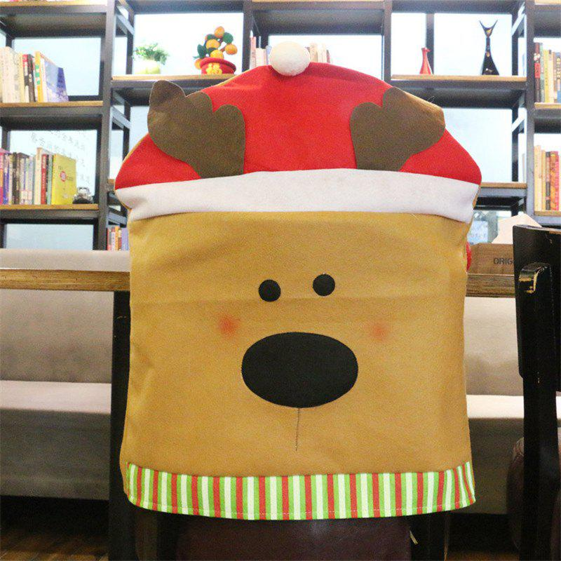 Christmas Decoration Chair Cover Hotel Restaurant Holiday Dressing SuppliesHOME<br><br>Size: ELK STYEL; Color: COLORMIX;
