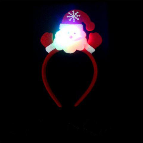 Shop Cute Flashing Christmas Headband LED Headwear for Kids Adults Decoration