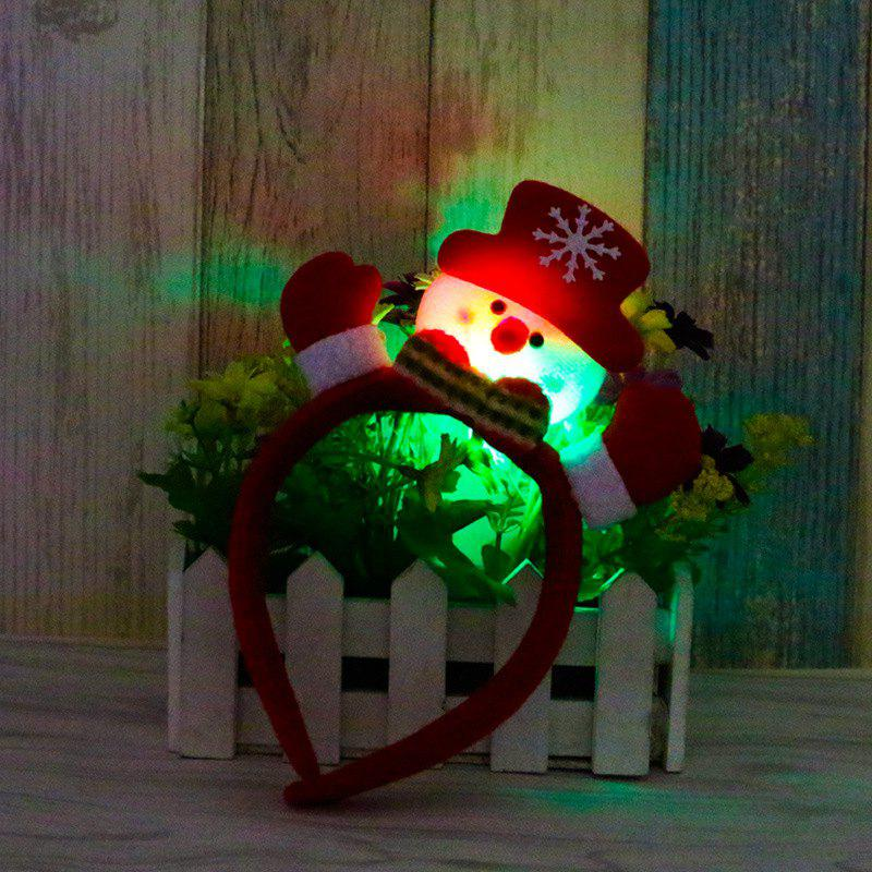 Cute Flashing Christmas Headband LED Headwear for Kids Adults DecorationHOME<br><br>Color: RED; Usage: Christmas;
