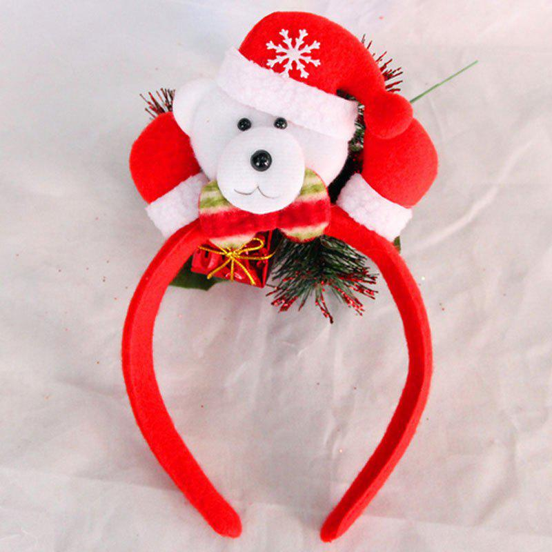 Cute Flashing Christmas Headband LED Headwear for Kids Adults DecorationHOME<br><br>Color: RED + WHITE + GRAY; Usage: Christmas;