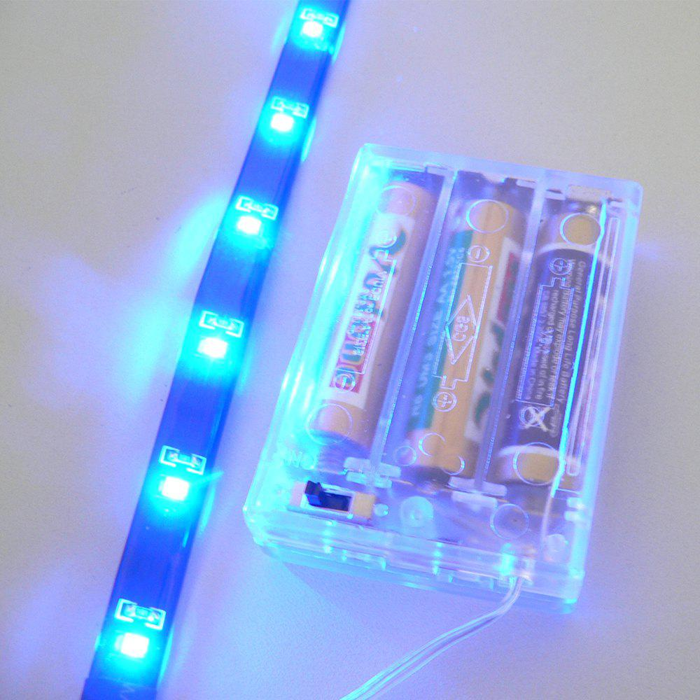 True-Shine Christmas LED Strips Blue Light Portable Battery Powered DC 4.5VHOME<br><br>Color: BLUE; Brand: True - Shine; Type: Flexible LED Light Strips,LED Strip Light; Light Source Color: Blue; Length ( m ): 0.3; Light color: Blue; Wattage (W): 1; Voltage: DC 4.5V; Power Supply: 3 x 1.5V AA battery; Features: Festival Lighting,Self-Adhesive; Certifications: CE,RoHs; Width( mm ): 10mm; Waterproof Rate: IP65; CRI: &gt;72; Light Source: 3528 SMD,LED; Beam Angle: 120; LED Quantity: 12; Color Temperature or Wavelength: 470 - 485nm;