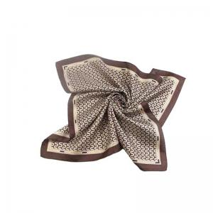 Spring Autumn New Design Small Square Silk Scarf for Ladies -