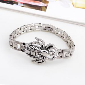 Мужская мода Spider Watch Chain Bangles Titanium Steel Bracelet -