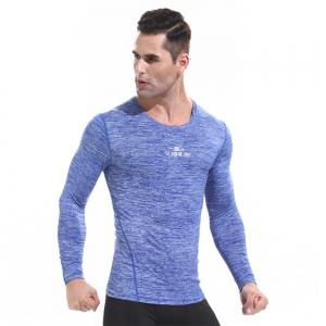 Men's Quick-drying Sports T Shirts Long Sleeve Fitness Gym Clothes -