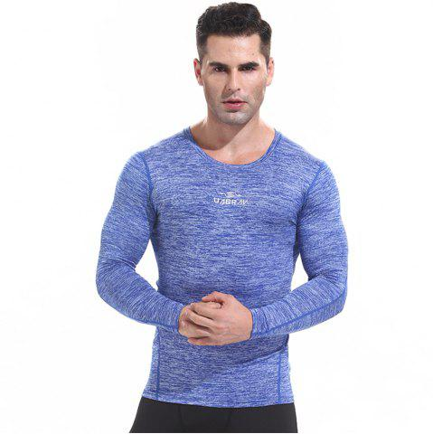 Fashion Men's Quick-drying Sports T Shirts Long Sleeve Fitness Gym Clothes