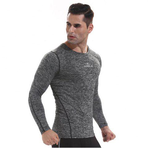Hot Men's Quick-drying Sports T Shirts Long Sleeve Fitness Gym Clothes