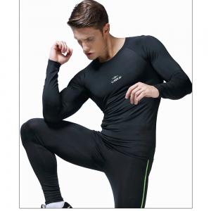 Men's Quick-Drying Sportswear Fitness Gym Clothes Long Sleeves -