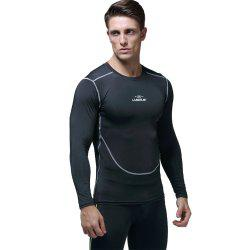Men's Quick-drying Elastic Tights Basketball Training Sportswear Long Sleeve T-Shirt -