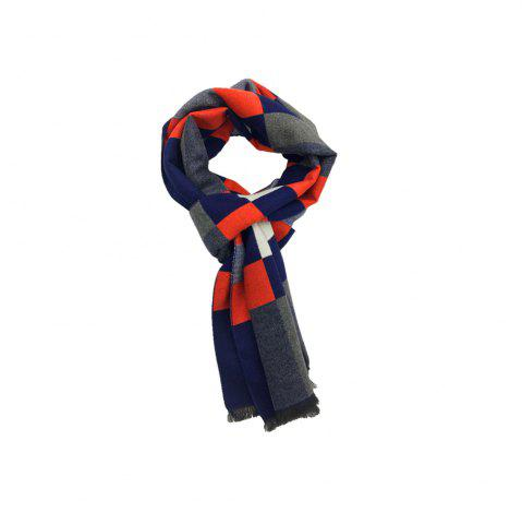 Latest Winter Outdoors Pashmina Fashion Warmth Lattice Long Scarf for Men