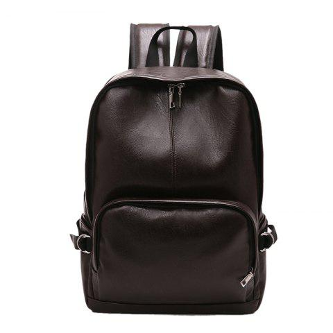 Buy Simple Casual Fashion PU Leather Backpack Schoolbag for Men