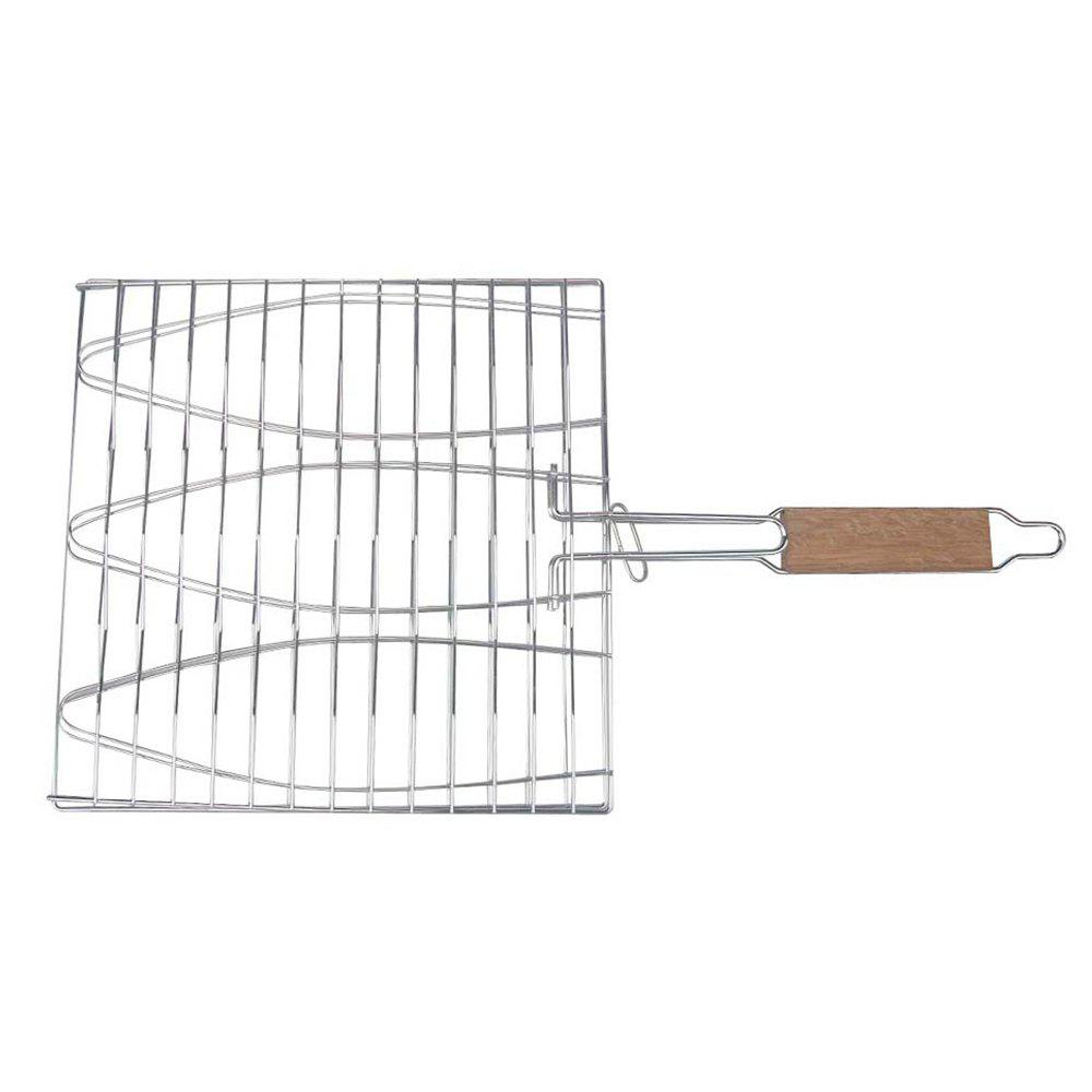 Buy Stainless Steel Triple Fish Basket Outdoor / Indoor BBQ Net