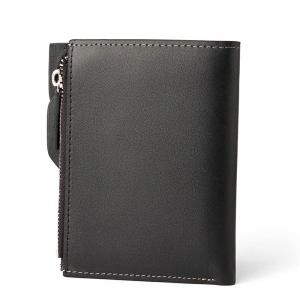 HAUT TON Genuine Leather Bifold and Trifold Wallets for Men Removable Flipout Card Holder -