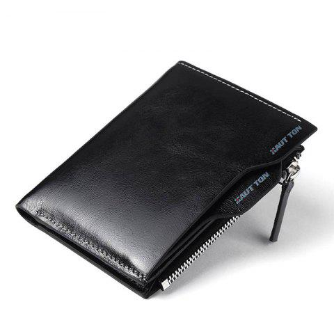 Trendy HAUT TON Genuine Leather Bifold and Trifold Wallets for Men Removable Flipout Card Holder