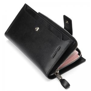 HAUT TON Men Genuine Leather Clutch Bag Handbag Organizer Checkbook Wallet Card Case -