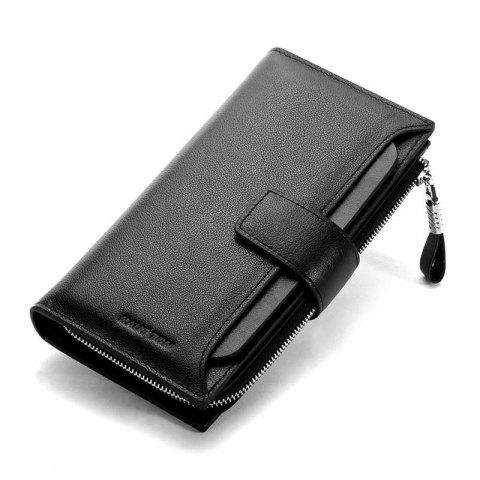 Latest HAUT TON Men Genuine Leather Clutch Bag Handbag Organizer Checkbook Wallet Card Case