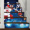 Christmas Santa Deer Pattern Decorative Stair Decals 6PCS -