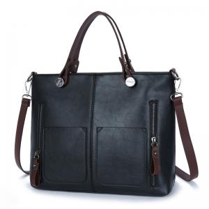PU Large Capacity Bags Fashion Casual Portable Shoulder Pocket -