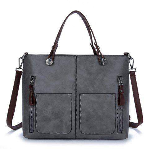 Discount PU Large Capacity Bags Fashion Casual Portable Shoulder Pocket