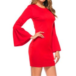 New Trumpet Sleeves Dress -
