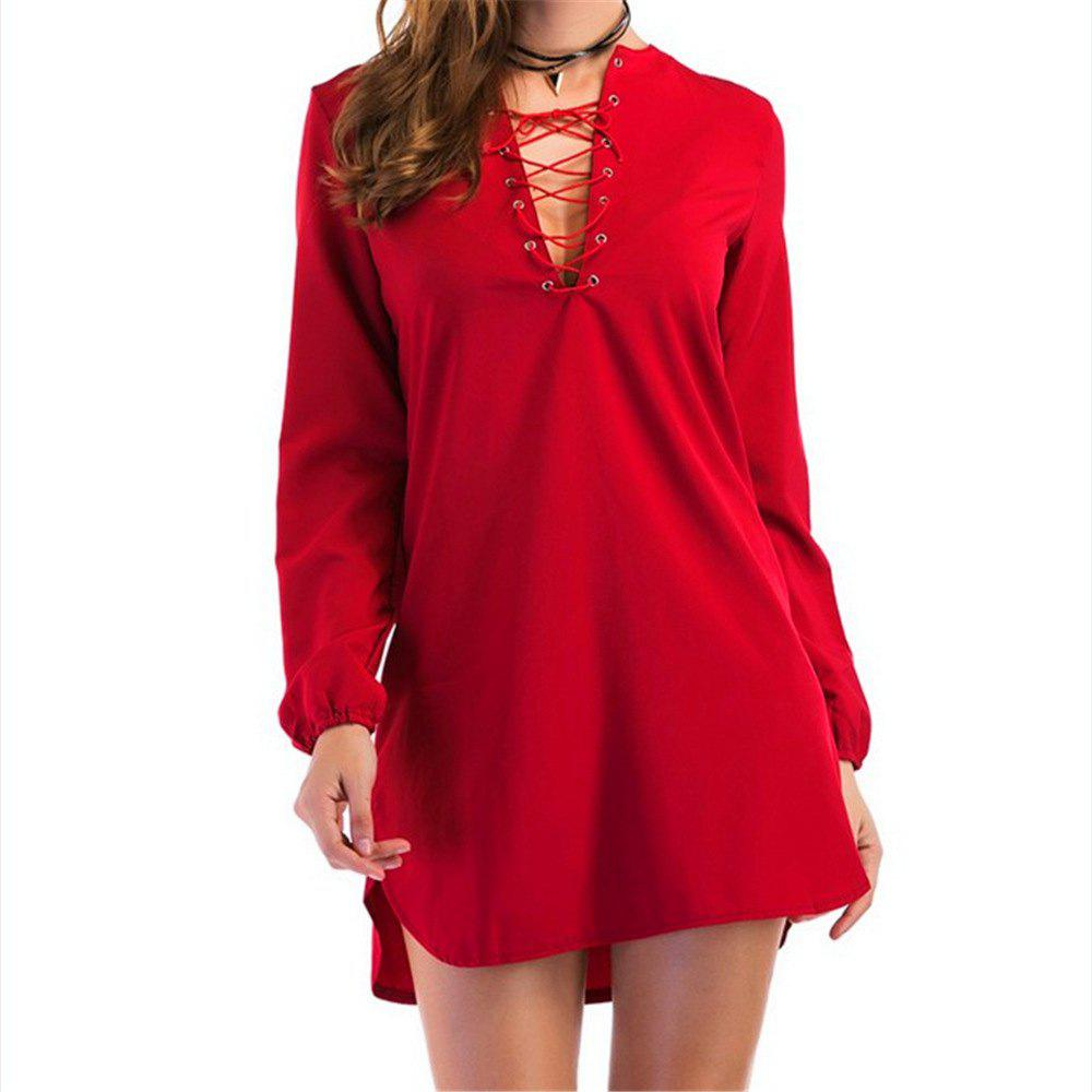 Sale Casual Long Sleeves Dress