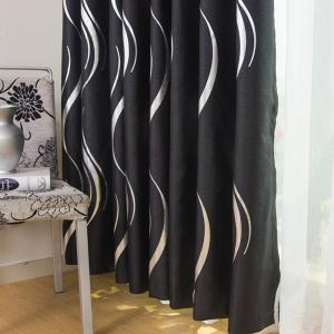 European Style Simple Embossed Hot Silver Process Living Room Bedroom Restaurant Curtains Grommet -