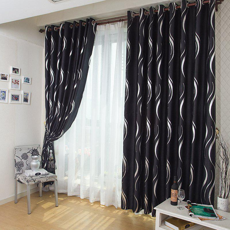 Fancy European Style Simple Embossed Hot Silver Process Living Room Bedroom Restaurant Curtains Grommet